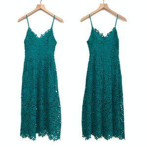 New ASTR Jade Green Midi Lace Dress - Size Small